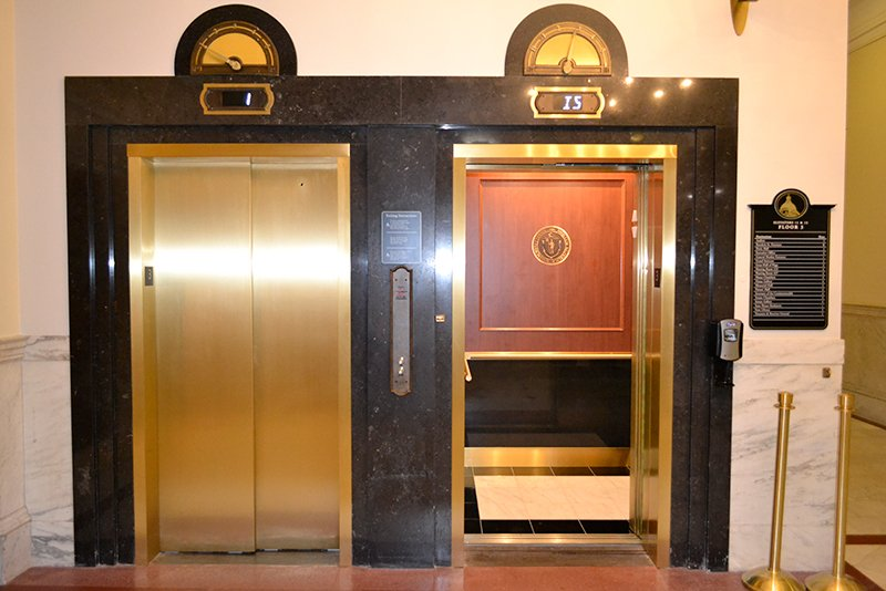 MA State House Elevator Upgrades Historic Renovation